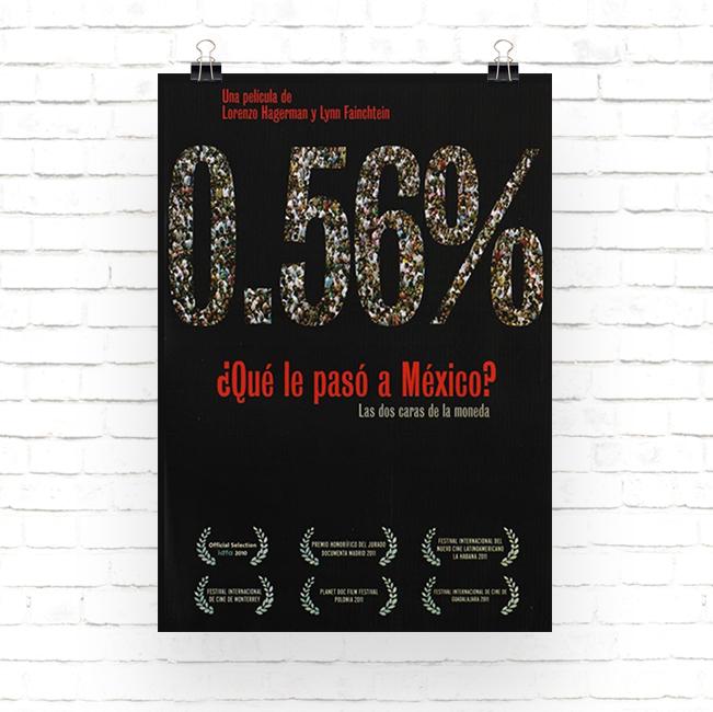 Cartel pelicula 0.56% ¿Qué le pasó a México?
